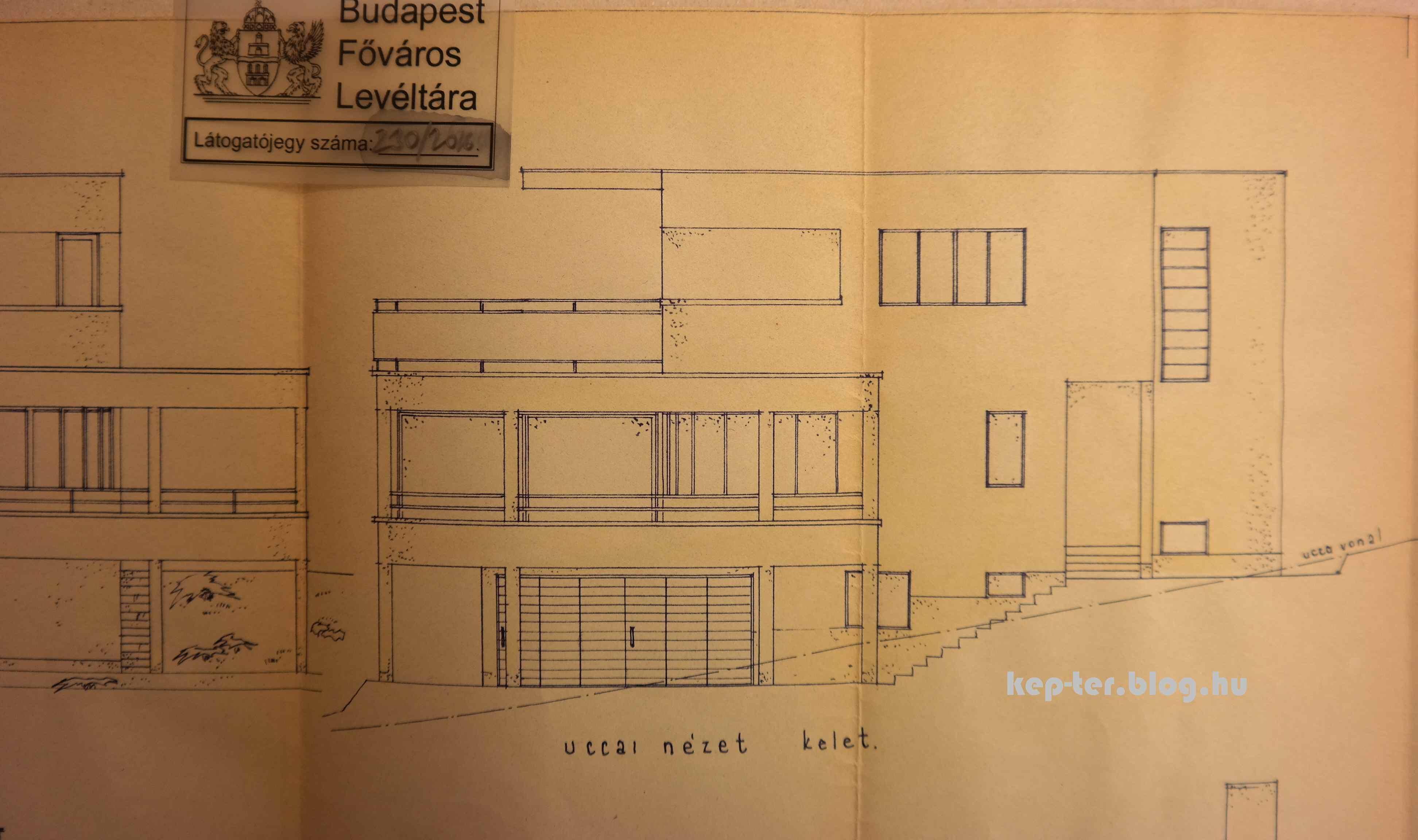 A módosított terveket 1943. január 20-án írta alá Fischer. Forrás: Budapest Főváros Levéltára.