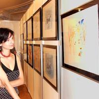 Bori a kiállításon