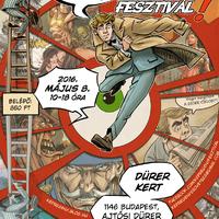 A 12. Budapesti Nemzetközi Képregényfesztivál hivatalos plakátja