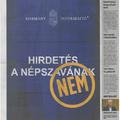 Címlapon sír a Népszava, hogy nem kap pénzt a kormánytól