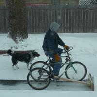 Téli haszonjármű háromkerekű bicikliből