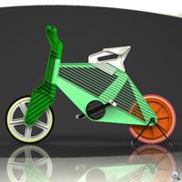 Fröccsöntött bicikli vidám színekben