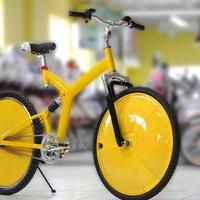 Dagadó kerekű bicikli drótok nélkül