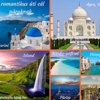 7 tökéletes úti cél egy romantikus nyaraláshoz