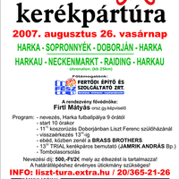 Liszt Ferenc kerékpártúra - 2007. augusztus 26.