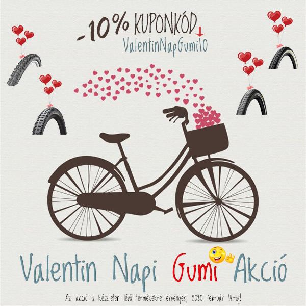 Valentin Nap - 10% Kerékpár Gumi Akció
