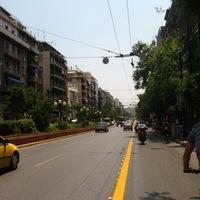 Kerékpárral Athén utcáin