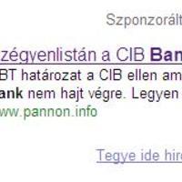 Adwords kampány a CIB bank ellen?