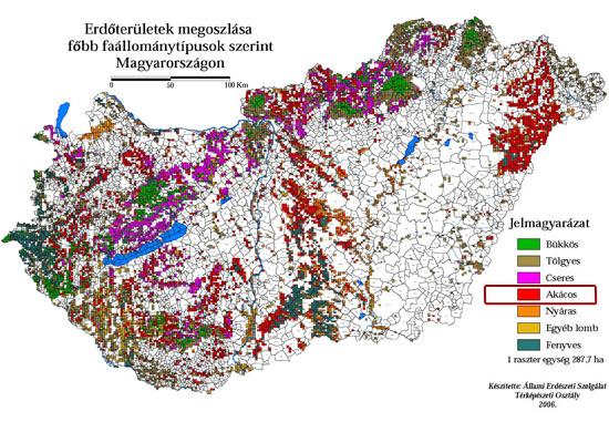magyarország akácerdői térkép Mi a baj az akáccal?   Megyeri Szabolcs kertész blogja magyarország akácerdői térkép