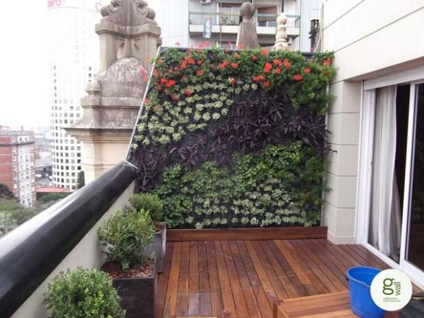 Bármilyen formában kialakítható a házi zöldfal, a dekorációs értéke óriási!