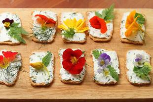 10 virág a tányéron