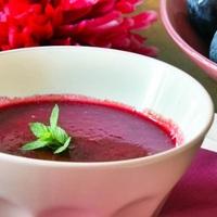 Borban főtt szilva levese