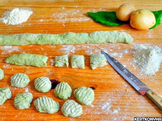 Zöld gnocchi