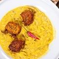 Tökfőzelék curryvel és cukkini kofta