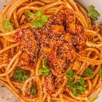 Bolognai spagetti, hús és szója nélkül