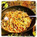 Spagetti és kelkáposzta