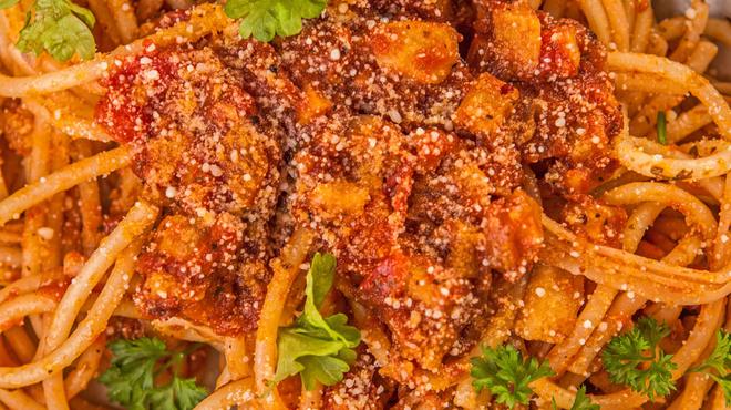 Bolognai spagetti, hús és szója nélkül - A Két Cica Konyhája