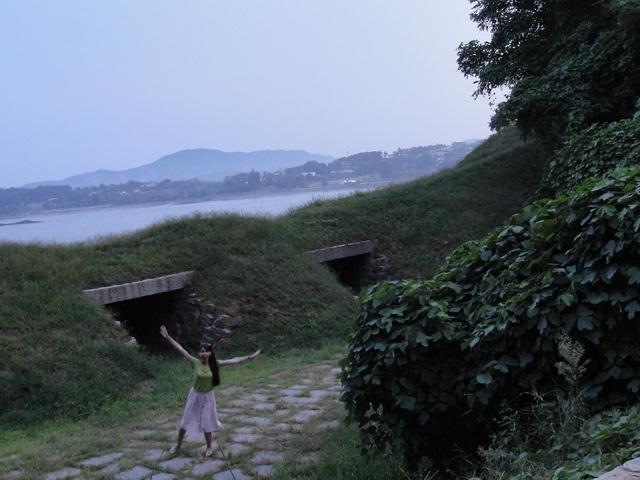 Sziget kilátással Észak-Koreára: Ganghwado