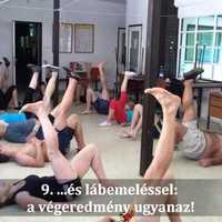 Clean and Front squat,Fekvőtámasz,lábemelés,Tigrisjárás,Kötél