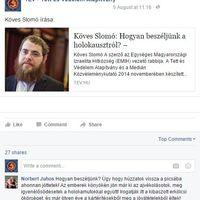 800 ezer forint egy antiszemita kommentért?