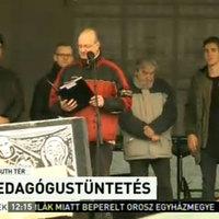 A kormány háttal ül a társadalomnak - újra megszólaltak a tiltakozó tanárok