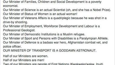A nő, a muszlim, a szikh, a vak és a kerekesszékes - ez az új Kanadai kormány