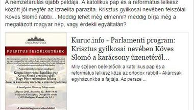 Antiszemita neveli a Jobbik rasszista képviselőjét