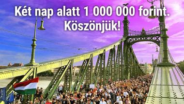 Két nap alatt több mint egymillió forintot adtatok össze a merce.hu-ra! Köszönjük!