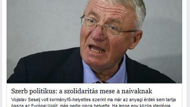 Magyargyűlölő szerb háborús bűnös szövegét reklámozza a helyi Fidesz