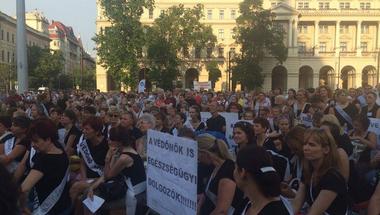 Gyógyítani akarnak! - Sándor Máriáék 12 órás tüntetése percről-percre