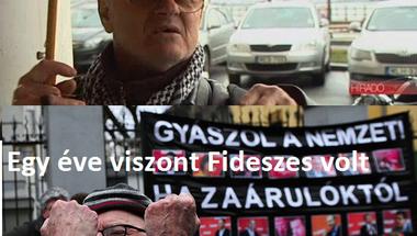 Hazudott a köztévé. Nem volt szoci, hanem igazi fideszes a Simon Gábor ellen tüntető férfi
