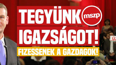 Szigetvári Viktor: mi a baj az MSZP vagyonadó kampányával?