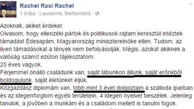 Orbán Ráhel és a félévente 15 millió forintos önerő