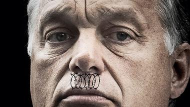 Bazi nagy Hitler-bajszos segélykiáltás a Magyar Narancs címlapján