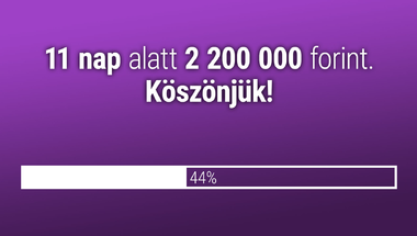 11 nap alatt 2 millió 200 ezer forintot adtatok össze a merce.hu-ra!