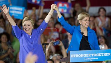 Radikális baloldali társat választ Hillary Clinton?
