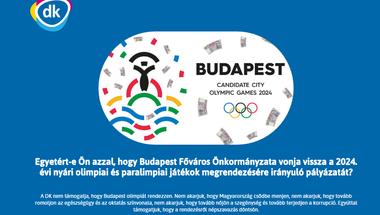 Népszavazási aláírásnak álcázott adatgyűjtéssel nehezíti a DK az olimpiaellenes kampányt?