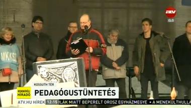 A tiltakozó tanárok hazug mocskolásával kezdi a szabad sajtó napját a Fidesz-média