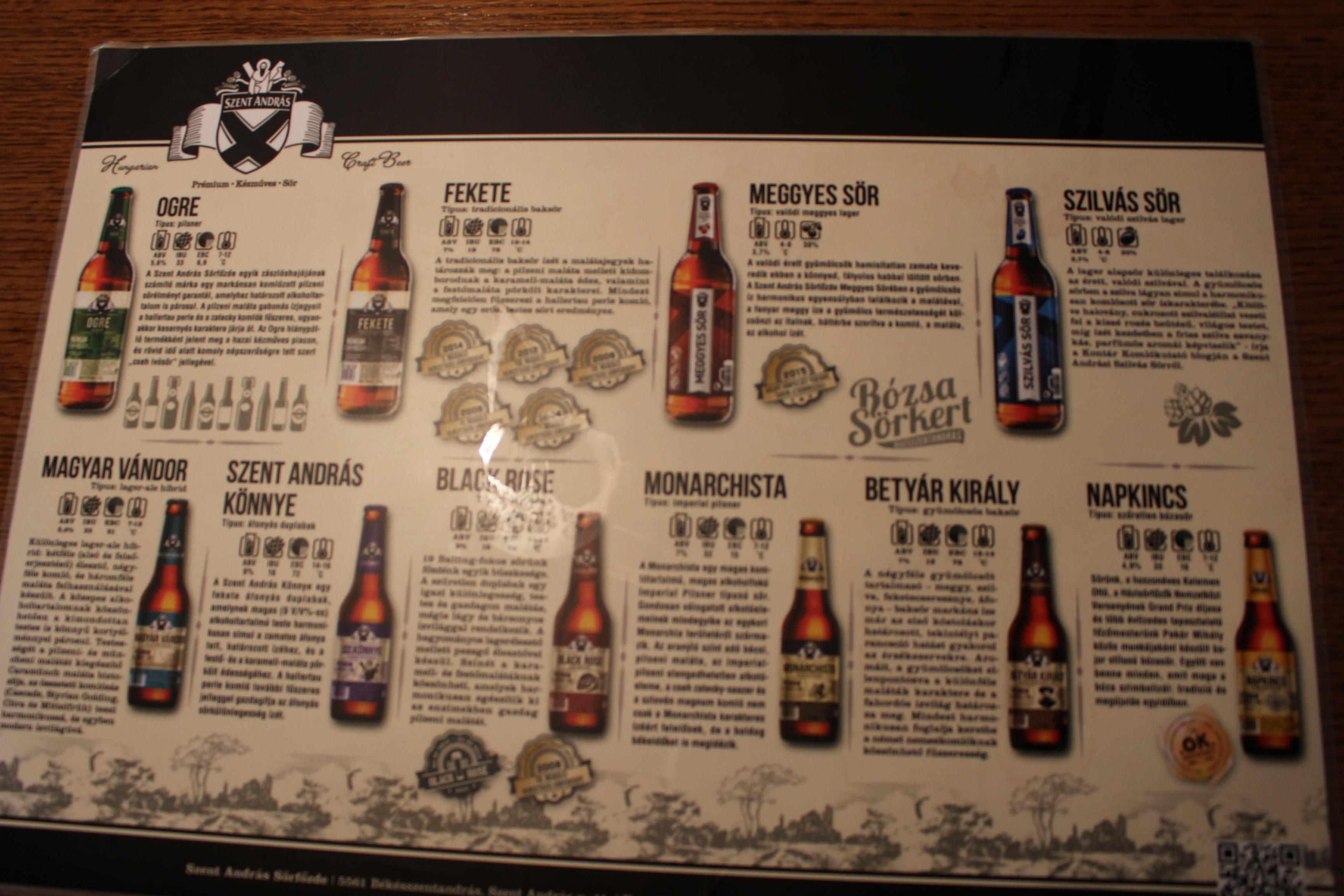x féle sör