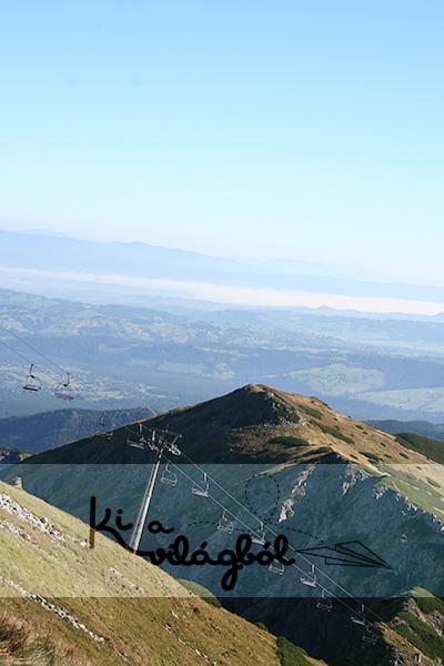 Alul Zakopane, felül a Gáspár-csúcs
