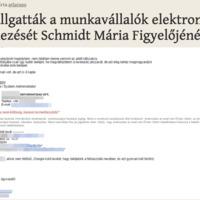 Lehallgatták a munkavállalók elektronikus levelezését a Figyelőnél