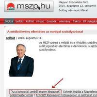 Az MSZP a korrupcióról