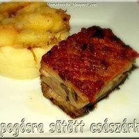 Ropogósra sütött császárhús zelleres krumplipürével