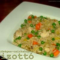 Zöldséges-csirkehúsos rizottó