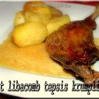 Sült libacomb rozmaringos tepsis krumplival és gravy-szósszal
