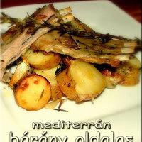 Mediterrán báránysült hagymás sült burgonyával