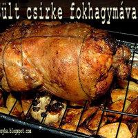 Sült csirke, sült fokhagymával
