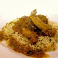 Sertés és nyúlhús curry