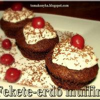 Fekete-erdő muffin