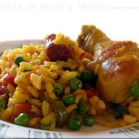 Paella, csirkével és chorizo kolbásszal...